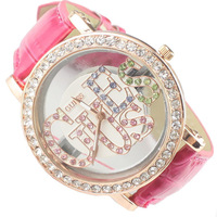 Fashion transparent glass letter rhinestone ladies watch fashion quality watch 18805451