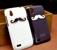 Lover&couple New Hot LEON Chaplin Sexy 3D Beard Mustache Hard Back Case Cover Skin For HTC Desire X T328e Free Shipping