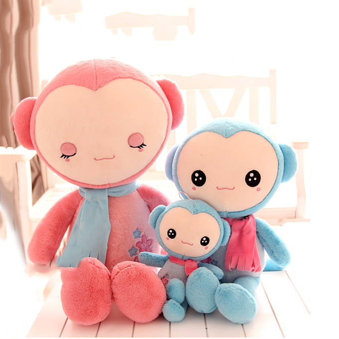 Pernycess super cute sock monkey lovely plush baby doll, monkey's family 4#, Stuffed plush baby bed dolls,amazing gifts(China (Mainland))