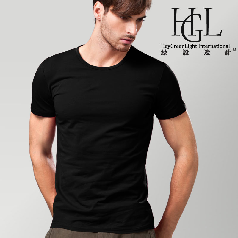 Top 100% cotton brief solid color tight o-neck short-sleeve T-shirt men's clothing slim half sleeve modal basic shirt(China (Mainland))