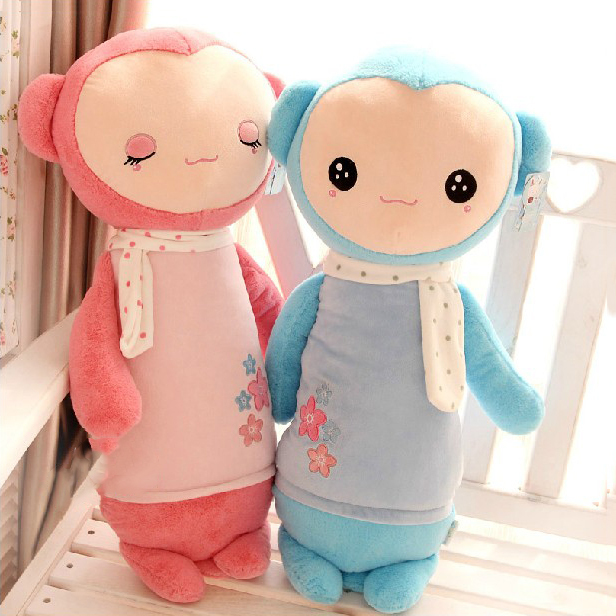 Pernycess super cute sock monkey lovely plush pillow, Stuffed plush baby bed dolls,amazing gifts(China (Mainland))