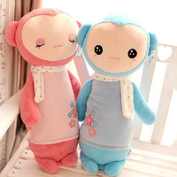 Pernycess super cute sock monkey lovely plush pillow, Stuffed plush baby bed dolls,amazing gifts