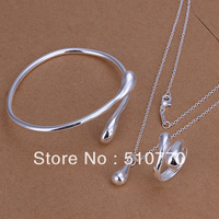 wholesale gift real sterling silver 925 set free shipping
