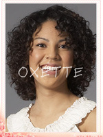 Deep curly hair wig side parted full lace front lace glueless short wigs with baby hair bleached knots