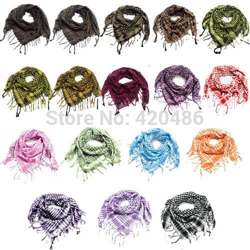 New Fashion Women Men Unisex Arab Shemagh Keffiyeh Palestine Scarf Shawl Wrap Kafiya Free Shipping(China (Mainland))