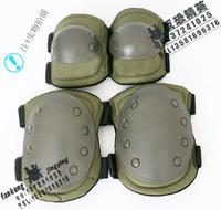 517hy - - black hawk flanchard set black hawk reinforced type elbow kneepad green
