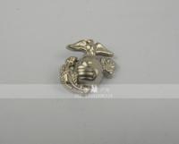 517hy - - badge marines cravat silver metal badge silver
