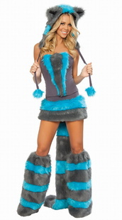 Blue Teddy Catwoman stage costume Halloween costume(China (Mainland))