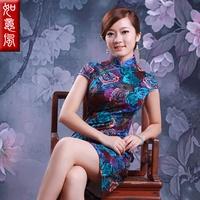 2013 summer placketing fashion vintage chinese style one-piece dress cheongsam 0025