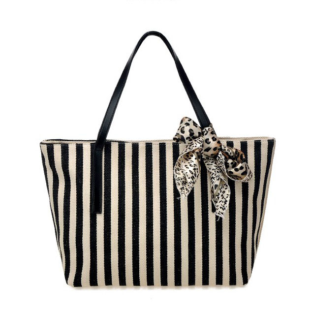 Navy style women's handbag stripe bags color block stripe silk scarf bags large capacity handbag one shoulder bag check stripe(China (Mainland))