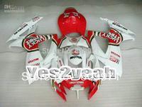 Lucky Red White Fairing For GSXR600 750 06-07 GSXR 750 06 07 GSXR 600 R750 K6 2006-2007 2006 2007