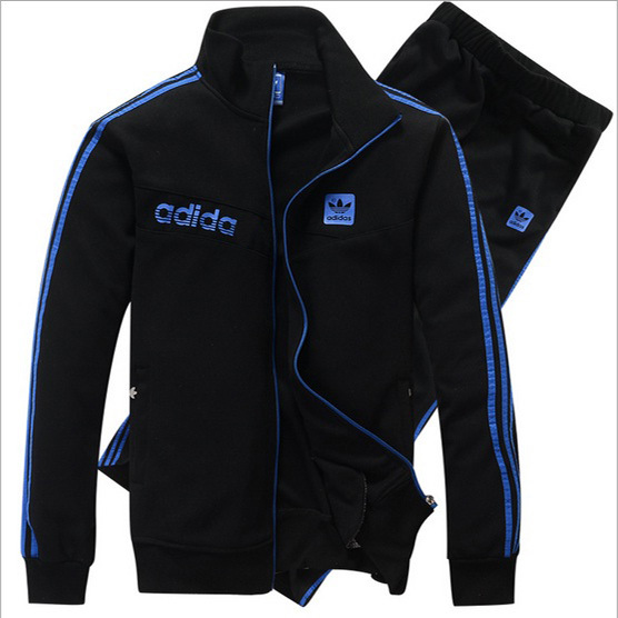 2013 new men's tracksuits,brand jacket men, fashion clothing ,sport suits men,pants and jacket ,cotton clothing men L-4XL, adi(China (Mainland))