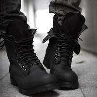 Male boots tidal current male boots fashion martin boots leather high boots