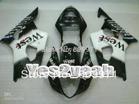 S181 White Black ABS Fairing For GSXR1000 03 04 GSX-R1000 03-04 GSXR 1000 K3 2003 2004 GSX R1000 03