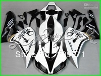 H124 White Dark Black Fairing for CBR1000RR 06 07 CBR 1000RR 2006 2007 CBR1000 CBR 1000 RR 06-07
