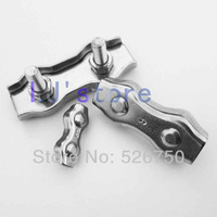 """2mm(5/64"""")  Wire Rope Duplex  Clip Cable Clamp rigging hardware  Stainless Steel 304 10pcs"""