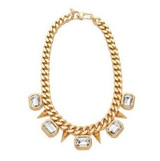 jc models show pop rivets geometric crystal necklace clavicle small jewelry wholesale free shipping(China (Mainland))