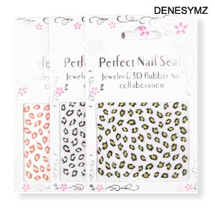 Nail art tools leopard print nail art applique  patch nail polish oil