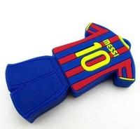 Free shipping 10pcs/lot Creative world cup Polo Shirt Football Star Messi USB 2.0 Memory Stick Flash Drive 2GB /4GB/8GB