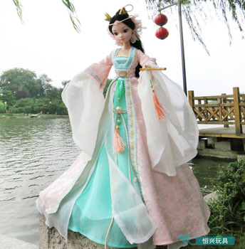Drop shipping 29cm tall Authentic Chloe doll b ancient Chinese  kurhn doll  myth dragon lady fairy 9059 joint body send shoes