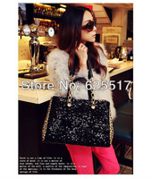 Exempt postage sequins leopard grain bag, the European and American style hand bag, single shoulder slope across packages
