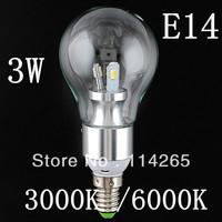 85v-265V AC 3w E27+ E14 base 6 led 5630 smd led light candle bulb spotlight 360 degree white warm white colour CE DHL