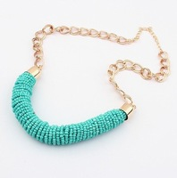 Min.order is $15(mix order)2013 jewelry wholesale exaggerated 6 colors statement necklace chunky fashion for women Free Shipping