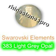 ss20 GENUINE Swarovski Elements Light Grey Opal ( 383 ) 144 pcs ( NO hotfix Rhinestone ) Clear Glass 20ss 2058 FLATBACK Crystal(Hong Kong)