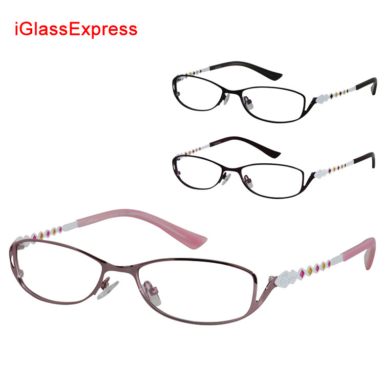 FREE Shipping - women's optical frame stainless steel full rim glasses prescription eyeglasses spectacles 7748(China (Mainland))