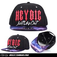 Heybig tie-dyeing hiphop snapback flat brim baseball cap adjustable hat