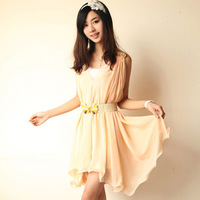 free shipping 2013 plus size twinset chiffon sexy slit neckline one-piece dress