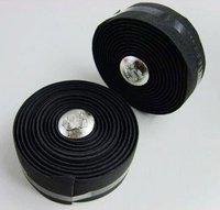 2 X New Cycling Road Bike Bicycle Cork Black Handlebar Tape Wrap + 2 Bar Plugs