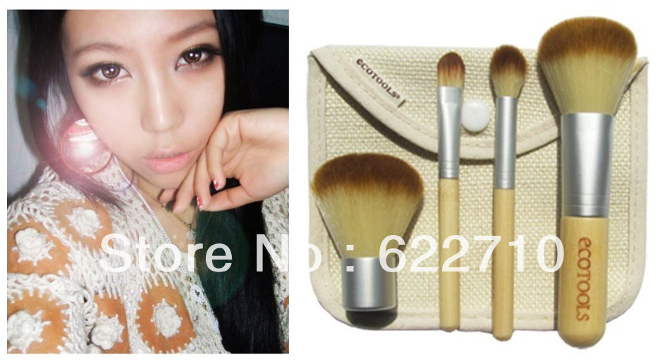 4 brush Synthetic Hair set powder brush eye shadow brush rouge Free China Post Air Mail(China (Mainland))