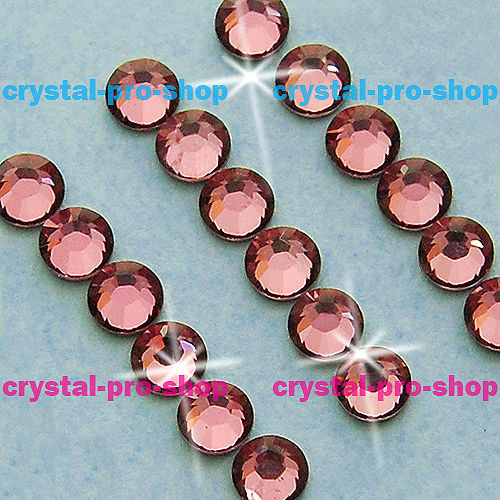 ss7 GENUINE Swarovski Elements Antique Pink ( 001 ANTP ) 144 pcs ( NO hotfix Rhinestone ) Clear Crystal 7ss 2058 FLATBACK Glass(Hong Kong)