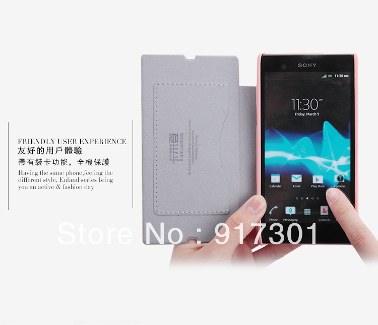 New Kalaideng Enland Series Leather Flip Case Cover Skin Back For Sony L36i L36h Xperia Z free shipping(China (Mainland))