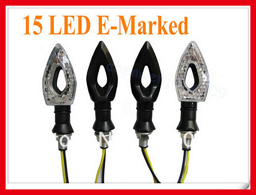 4X MOTORCYCLE LED TURN SIGNAL LIGHT INDICATORS Honda CRF CBR VTR XR250 XR400 250(China (Mainland))
