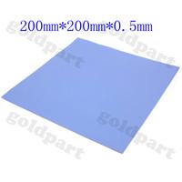 Blue 200mmx200mmx0.5mm GPU CPU Heatsink Cooling Thermal Conductive Silicone Pad