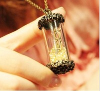Fashion retro Baroque love letter wish bottle pendant necklaces /long sweater chain Min.order $15 mix order