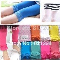 baby girl velvet legging kids candy color lace leggings girl fashion summer cute dress 5pcs/lot
