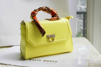 Free shipping 2013 stylish vintage messenger bag with silk scarf gentle women's handbag ladies' handbag  THE TREASURE