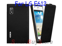 Magnetic Flip PU Leather Case for LG Optimus L5 E612 , Free Shipping