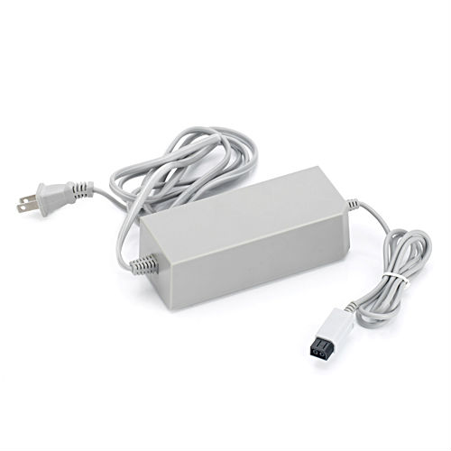 2pcs/lot Free Shipping AC Power Adapter / Charger for Wii Console (100~240V AC)(China (Mainland))