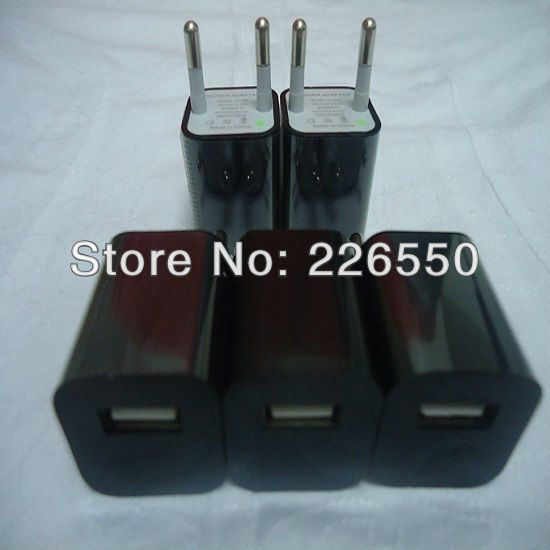 10pcs/lot AC Power USB Wall Charger For iPhone 5 4 4S 3GS iPod EU Plug(China (Mainland))