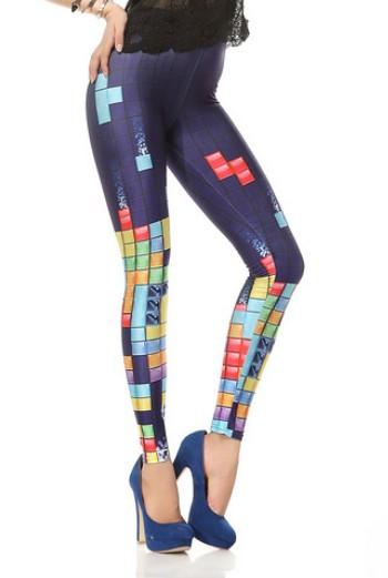 EAST KNITTING BL-045 2013 fashion womans clothes Black milk tetris digital print leggings top sale tights free shipping(China (Mainland))