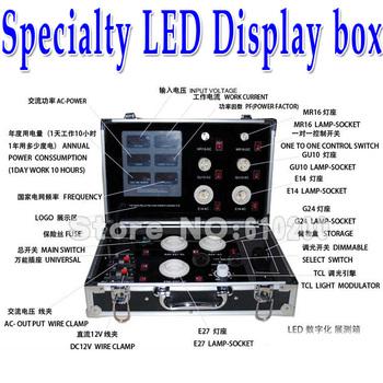 Universal Multifunction Specialty LED energy-saving lamps tester Display box  Detector Power Meter 86-264V E27/GU10/E14/MR16/G24