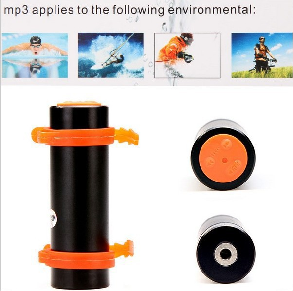 LOWEST PRICE!! WaterProof Mp3 Player Swimming Water Proof Sport MP3 Player IPX8 With real 2GB FM Radio 50pcs Free DHL Shipping(China (Mainland))