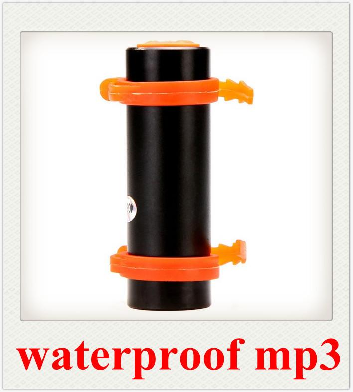 REAL 8GB Swimming Diving Water IP*8 Waterproof MP3 Player FM Radio Earphone 15PCS Free Shipping(China (Mainland))