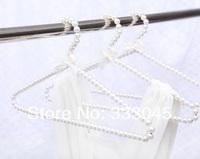 FREE shipping white Plastic pearl hanger adult clothes hanger hanging racks slip-resistant laundry hanger drying racks hanger