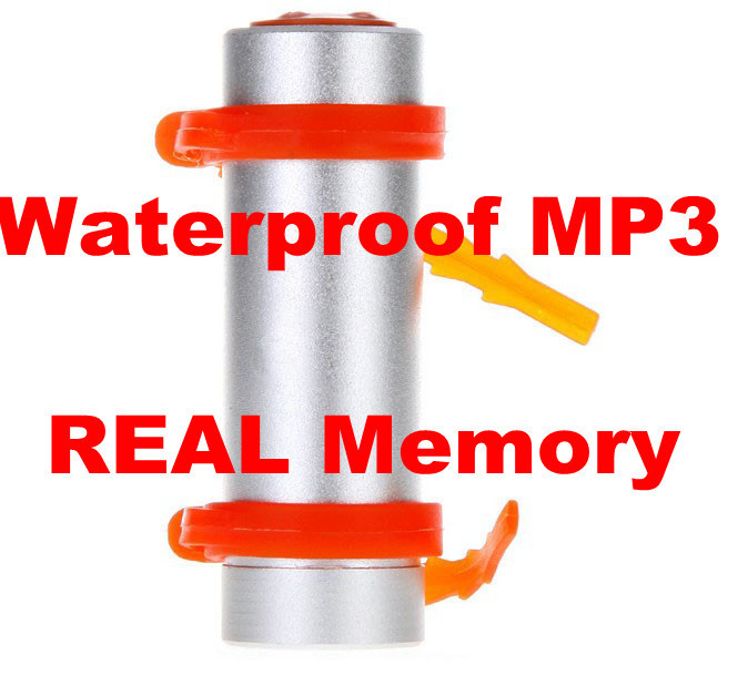 Swimming Water Proof Sport MP3 Player WaterProof Mp3 Player IPX8 With real 2GB FM Radio 15pcs Free DHL Shipping(China (Mainland))
