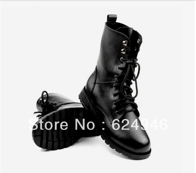 Hot selling!!!Woman Motorcycle and Martin boots thick crust slope with snow boots(China (Mainland))
